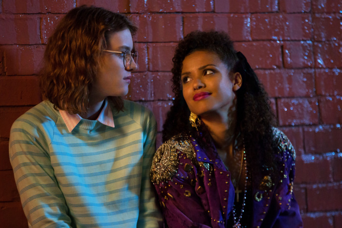 "Mackenzie Davis and Gugu Mbatha-Raw in ""San Junipero""."