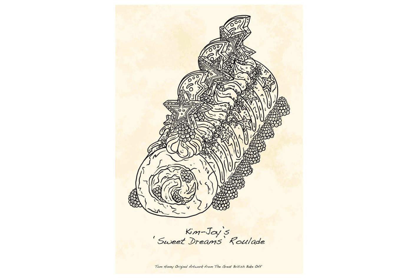 <em>Great British Baking Show</em> illustrated prints