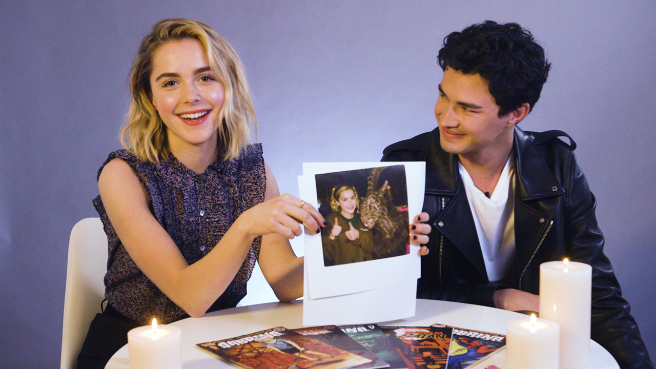 Kiernan Shipka and Gavin Leatherwood on Superstitions and Cursed Images