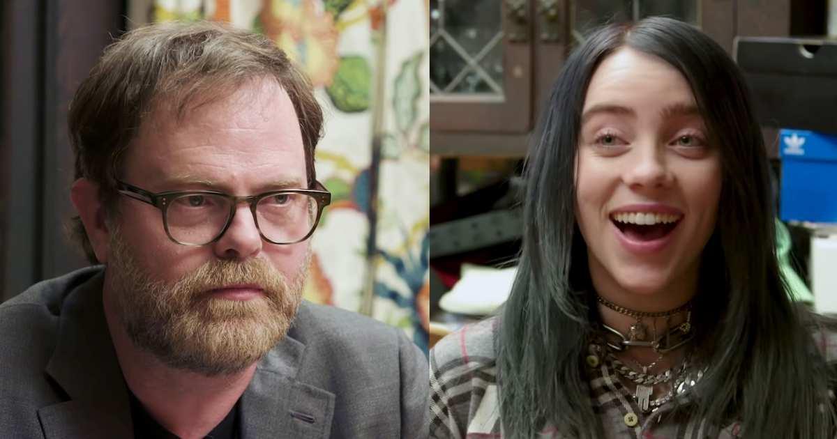 Billie Eilish Takes Rainn Wilson's 'The Office' Quiz: VIDEO