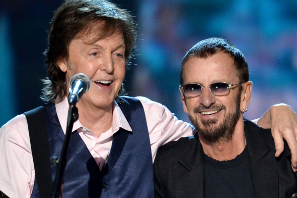 Paul McCartney and Ringo Starr Have a Mini Beatles Reunion