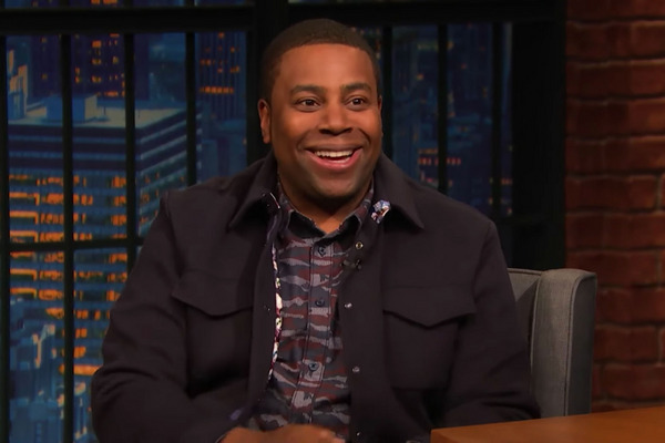Seth Meyers Scolds Kenan Thompson for Disrespecting His Desk