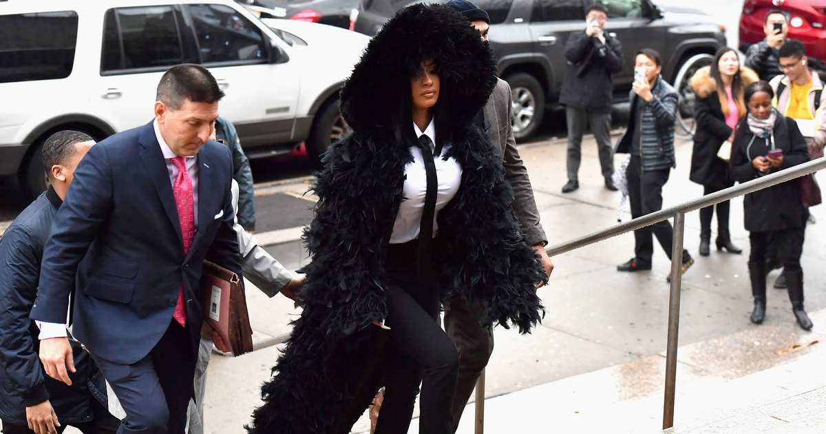 Cardi B Borrows Coat From Maleficent for Court Appearance