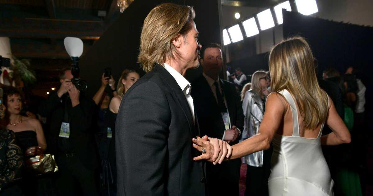 Brad Pitt and Jennifer Aniston Both Got SAG Awards, But You, You Got This Photo Of Brad and Jen