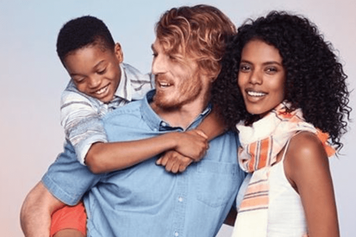Old Navy's ad. Instagram/Grace Mahary.