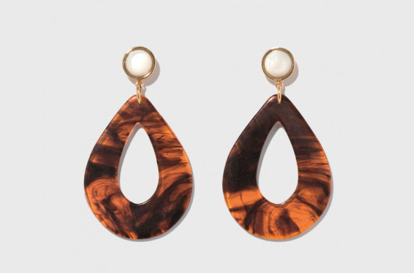 Lizzie Fortunato Tortoise Teardrop Earrings