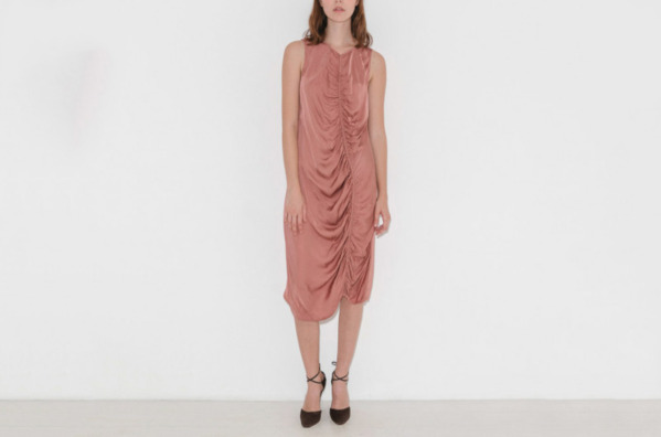 Raquel Allegra Gathered Midi Dress