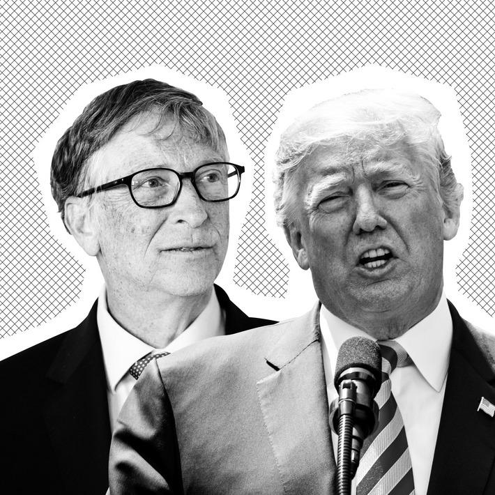 Bill Gates, Donald Trump.