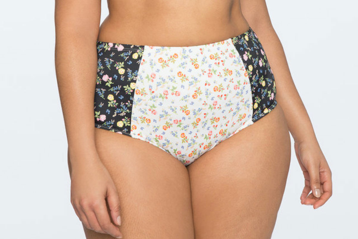 Printed High Waisted Bikini Bottoms