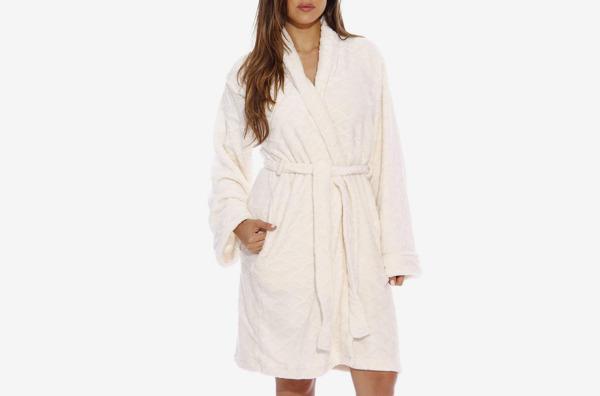 Just Love Velour Scalloped Kimono Robe