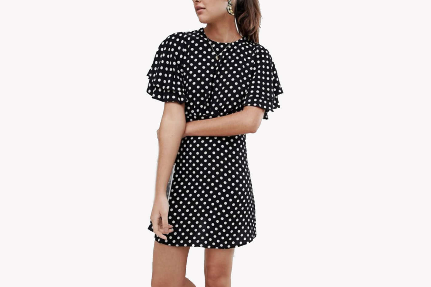 New Look spot dobby tea dress