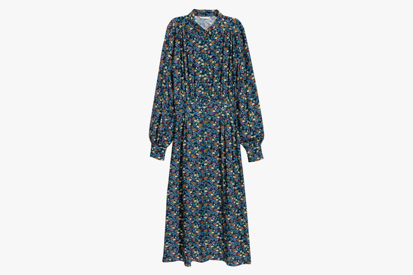 Long-Sleeve Floral Prairie Dress