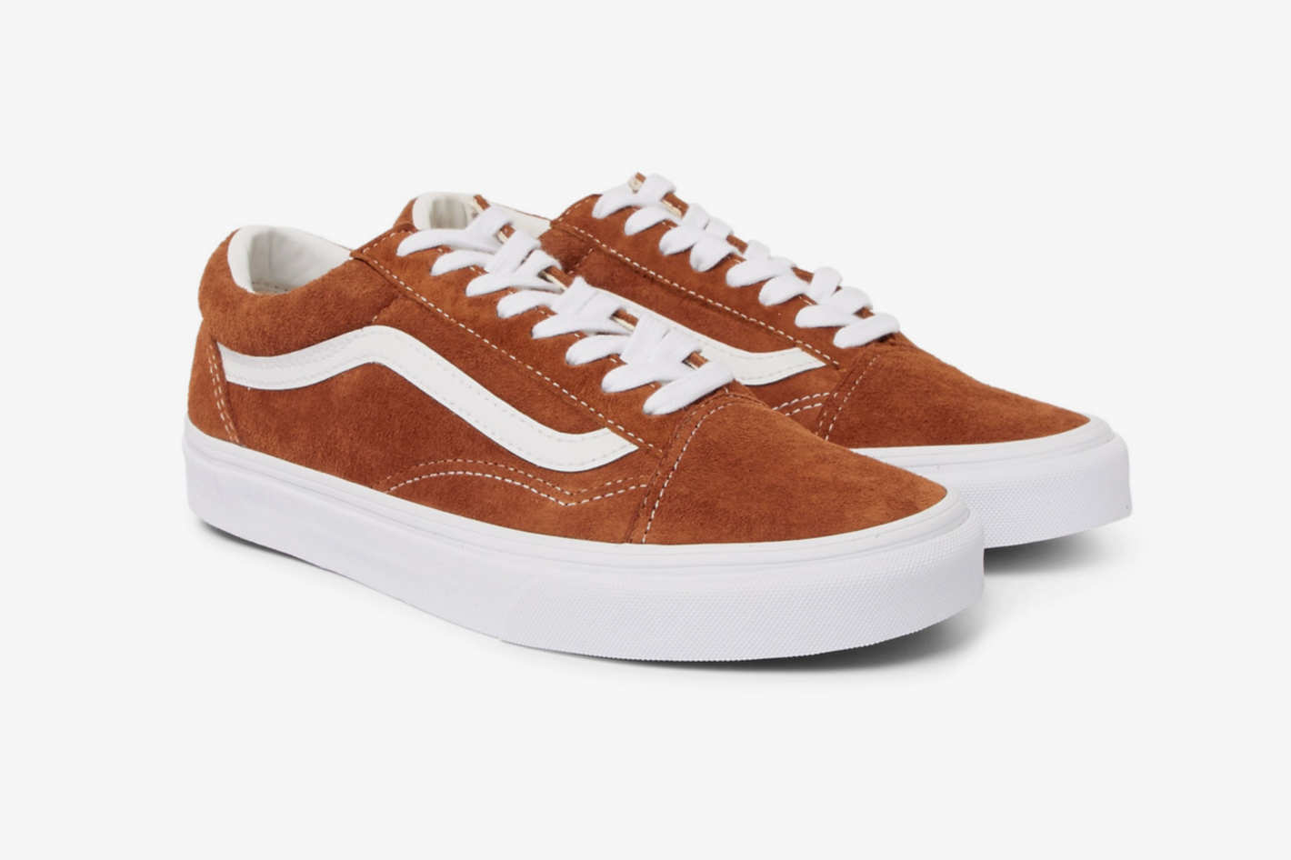 Vans Old Skool Leather-Trimmed Suede Sneakers