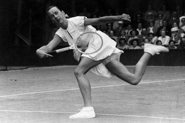 Gertrude Moran at Wimbledon.