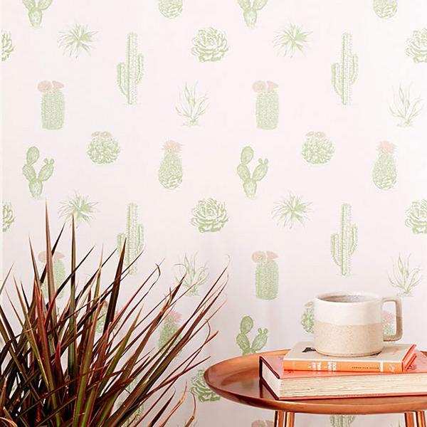 Cactus Icon Removable Wallpaper