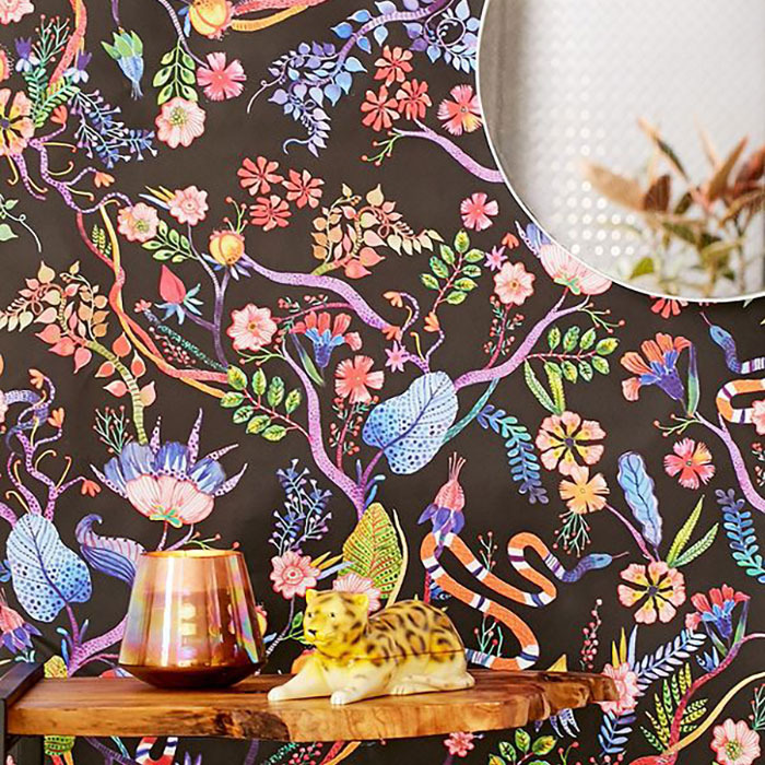Whimsical Floral Removable Wallpaper