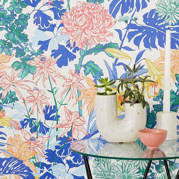 Laurel Kimono Floral Removable Wallpaper