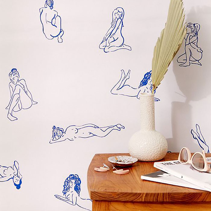 Bathing Beauties Removable Wallpaper