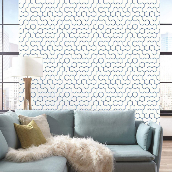RoomMates Open Geometric Repositionable and Removable Peel and Stick Wallpaper