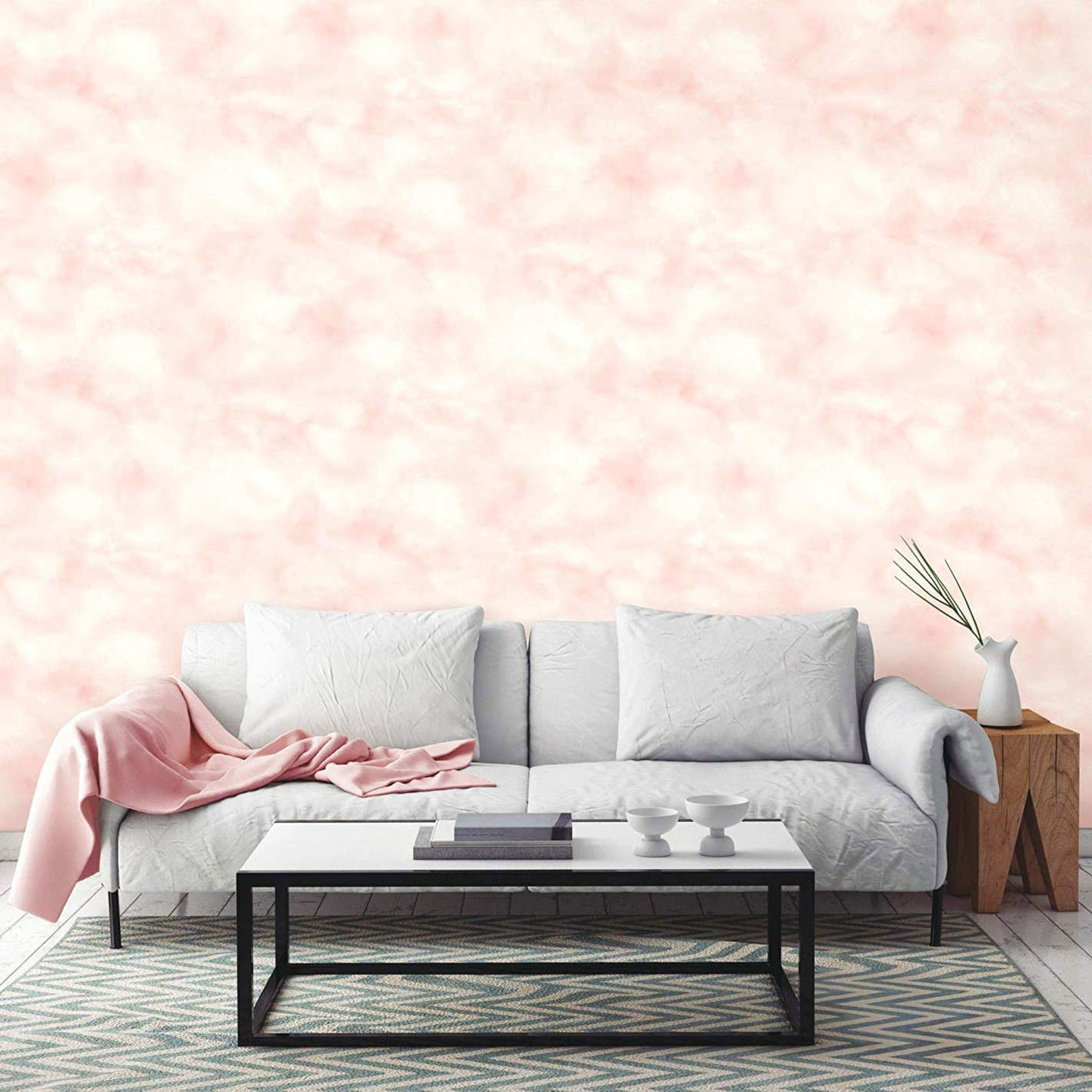 RoomMates Cloud Repositionable and Removable Peel and Stick Wallpaper