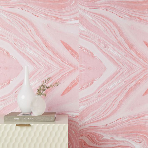 Chasing Paper Pink Marble Wallpaper