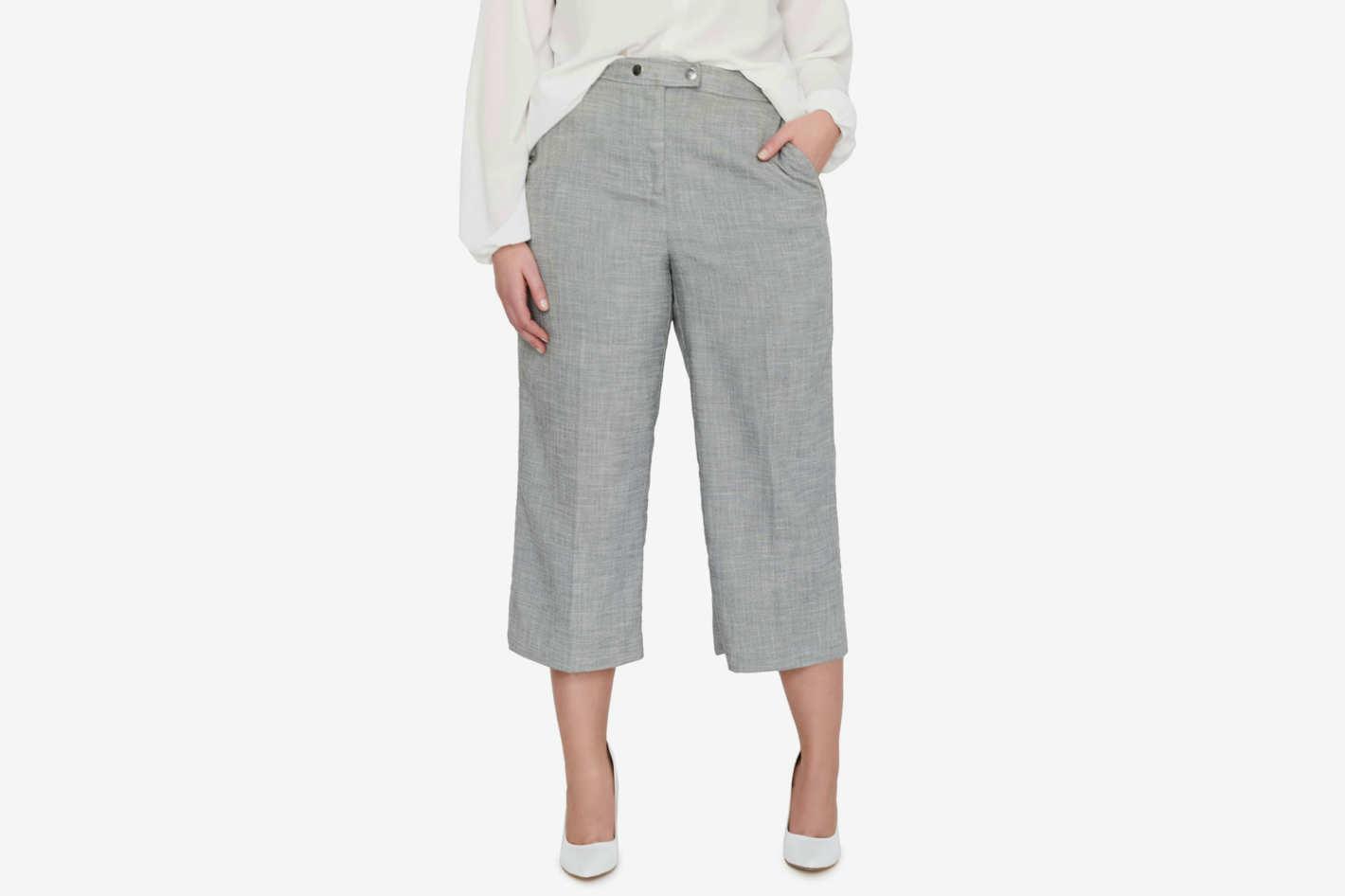 Michel Studio Crop Wide Leg Pants