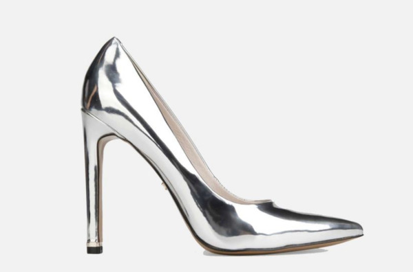 Riley 110 Metallic Leather Stiletto Heel