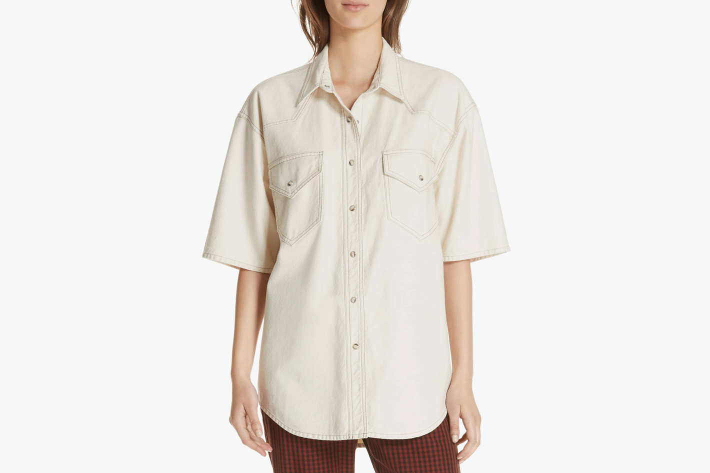 Nanushka Seymour Denim Shirt