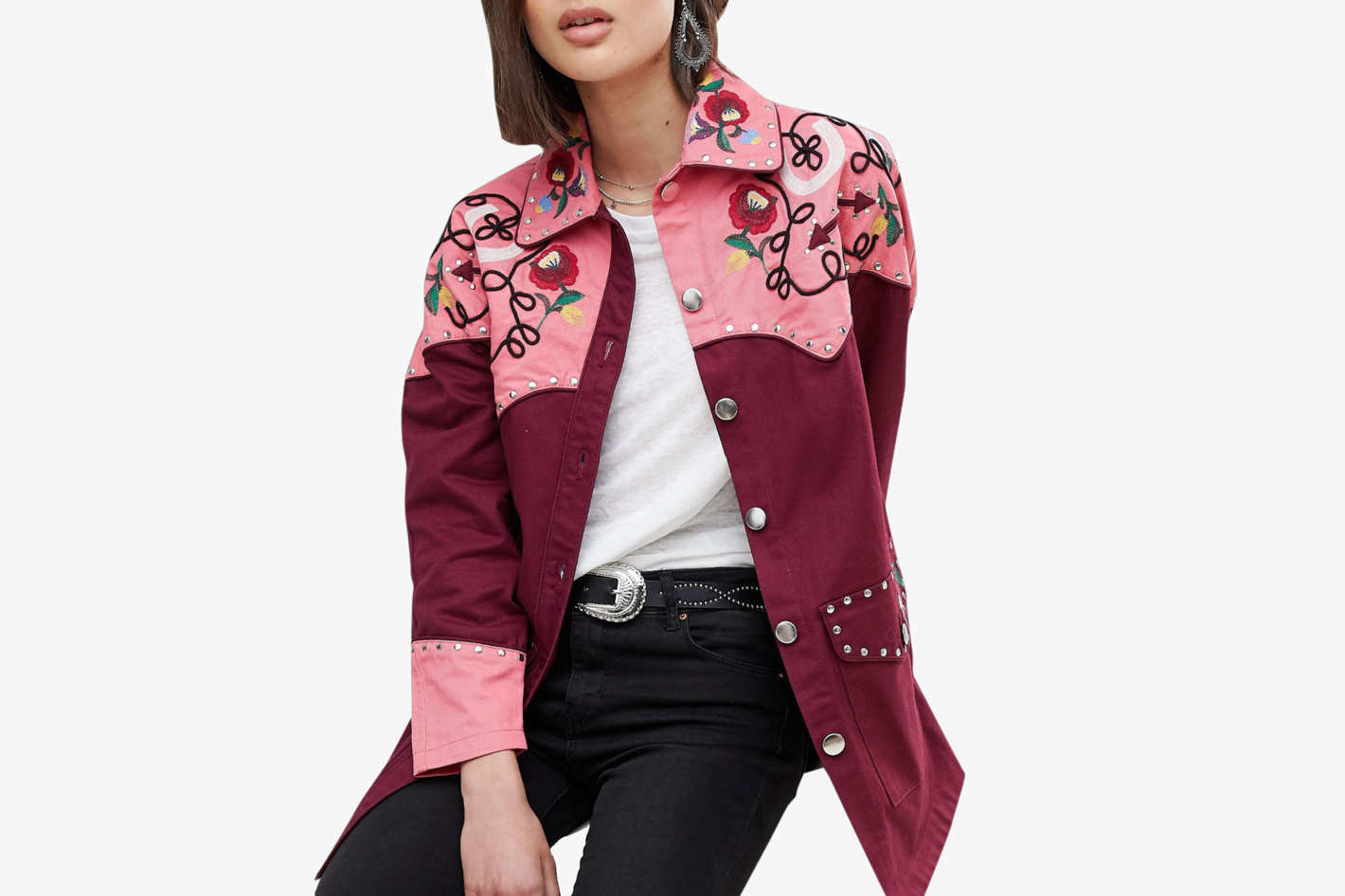 ASOS Design Western Embroidered Jacket