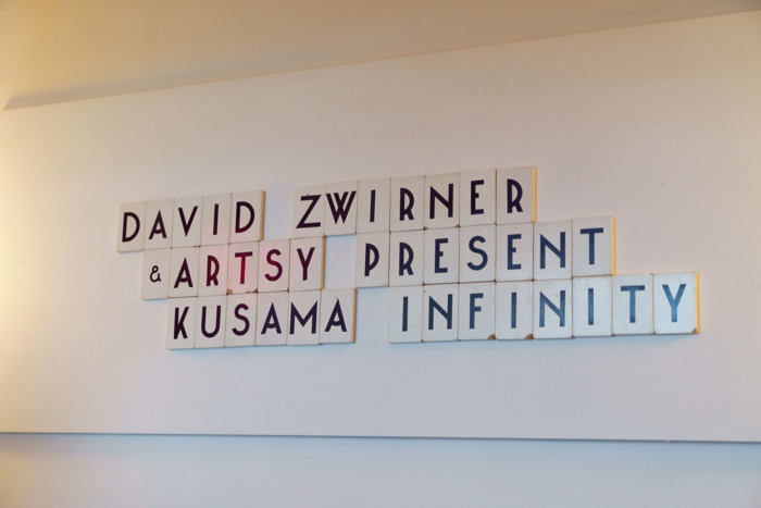 Kusama Infinity Lettering at the Metrograph Theater