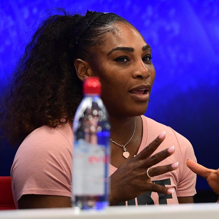 Serena Williams at press conference.