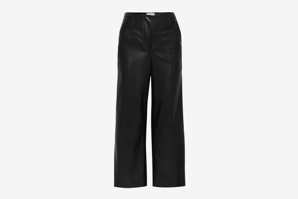 Nanushka Vegan Faux Leather Wide Leg Pants
