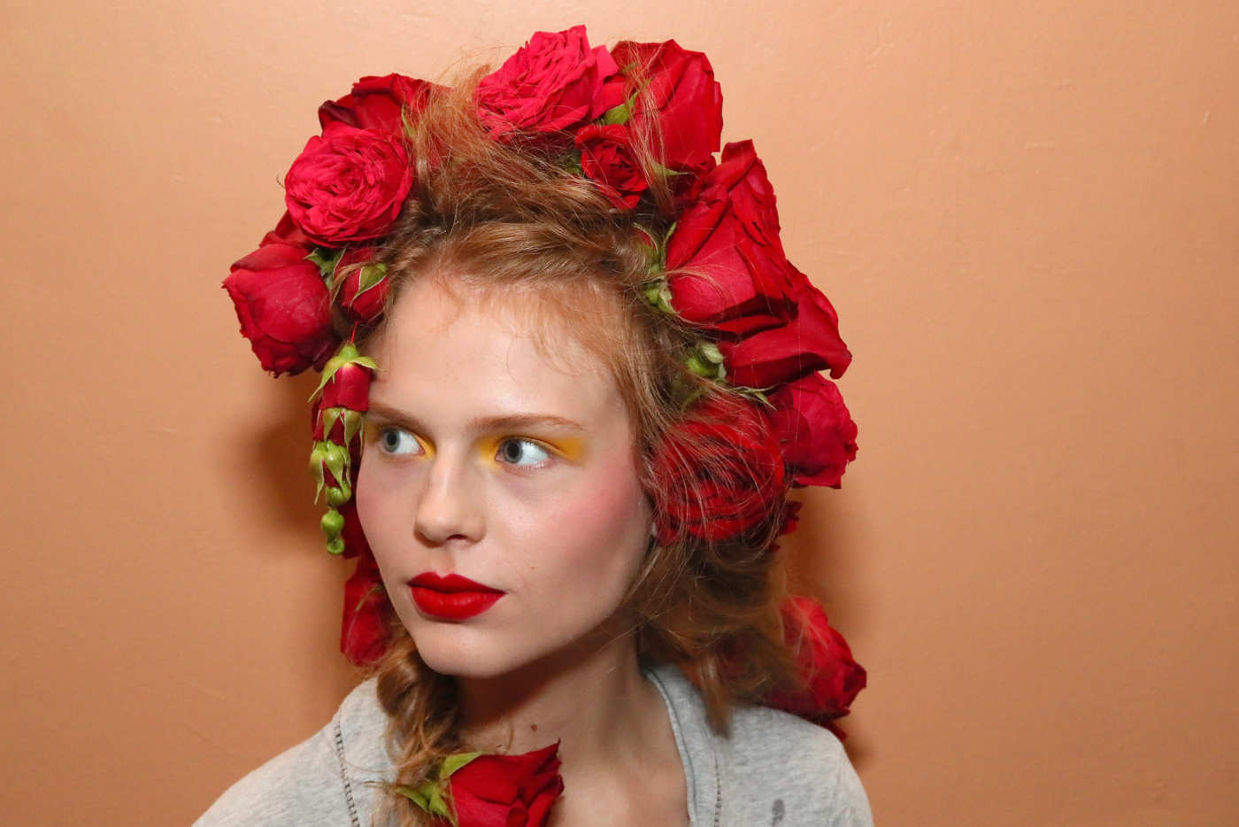 Rodartes Spring 2019 Flower Hair Was The Prettiest Of Nyfw