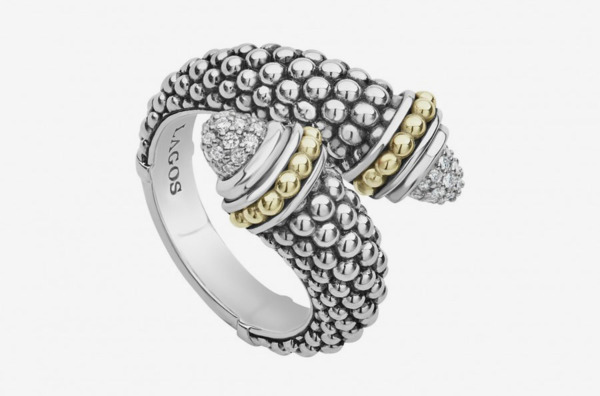 Signature Caviar Diamond Crossover Ring