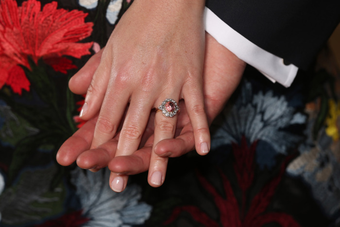 Princess Eugenie's engagement ring.