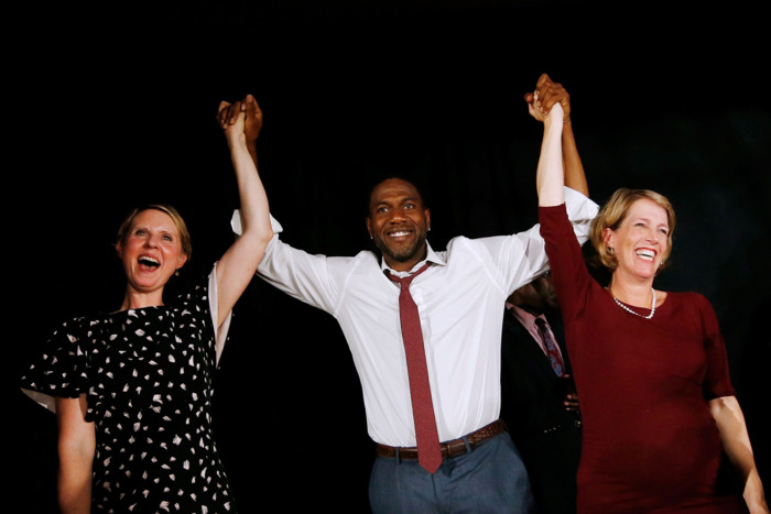 Cynthia Nixon, Juumane Williams, and Zephyr Teachout.