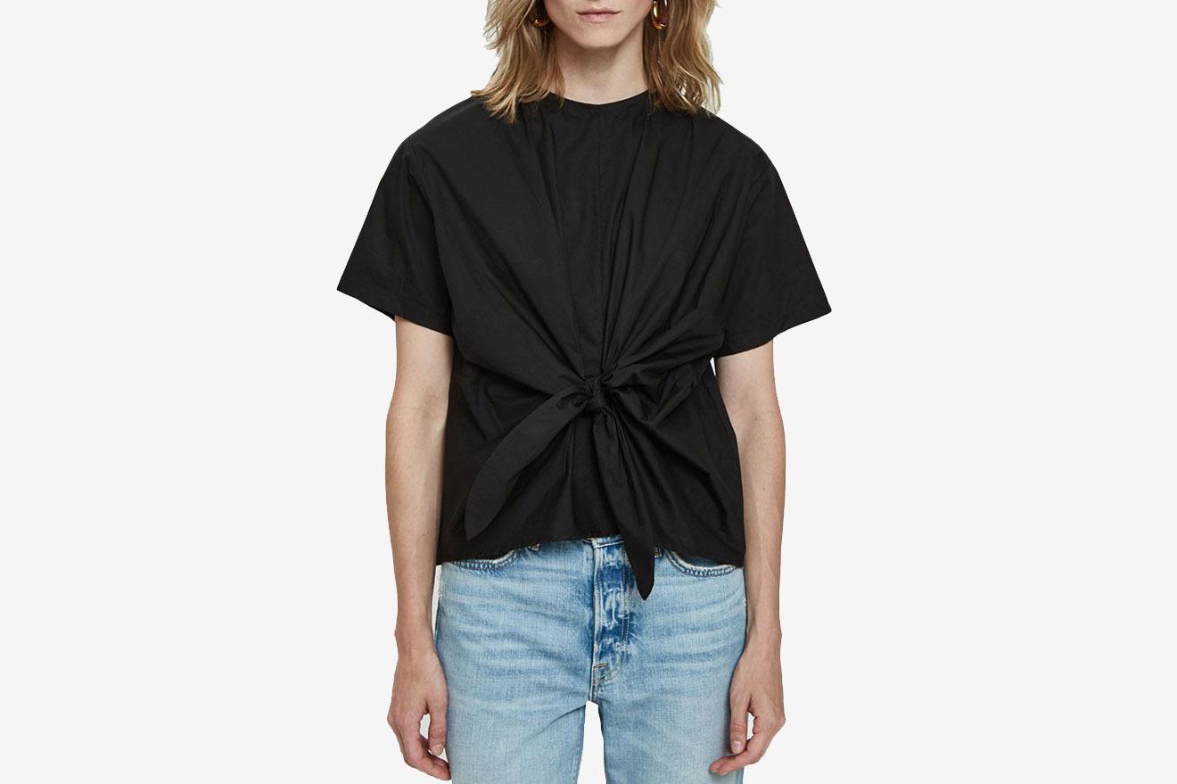 Farrow Belina Tie Blouse in Black