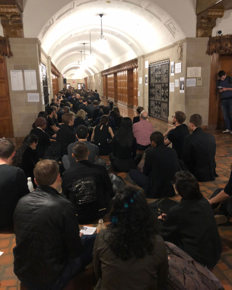 Sit-in at YLS.