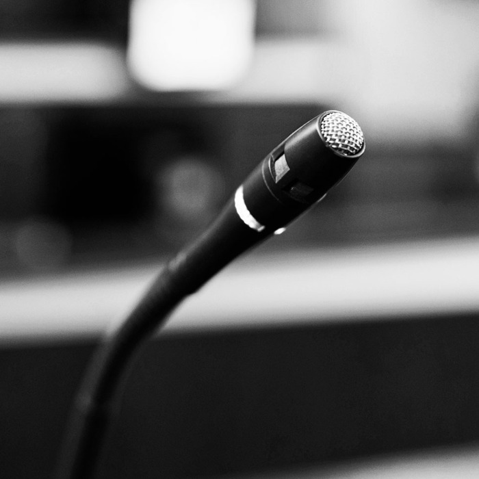Microphone in courtroom.