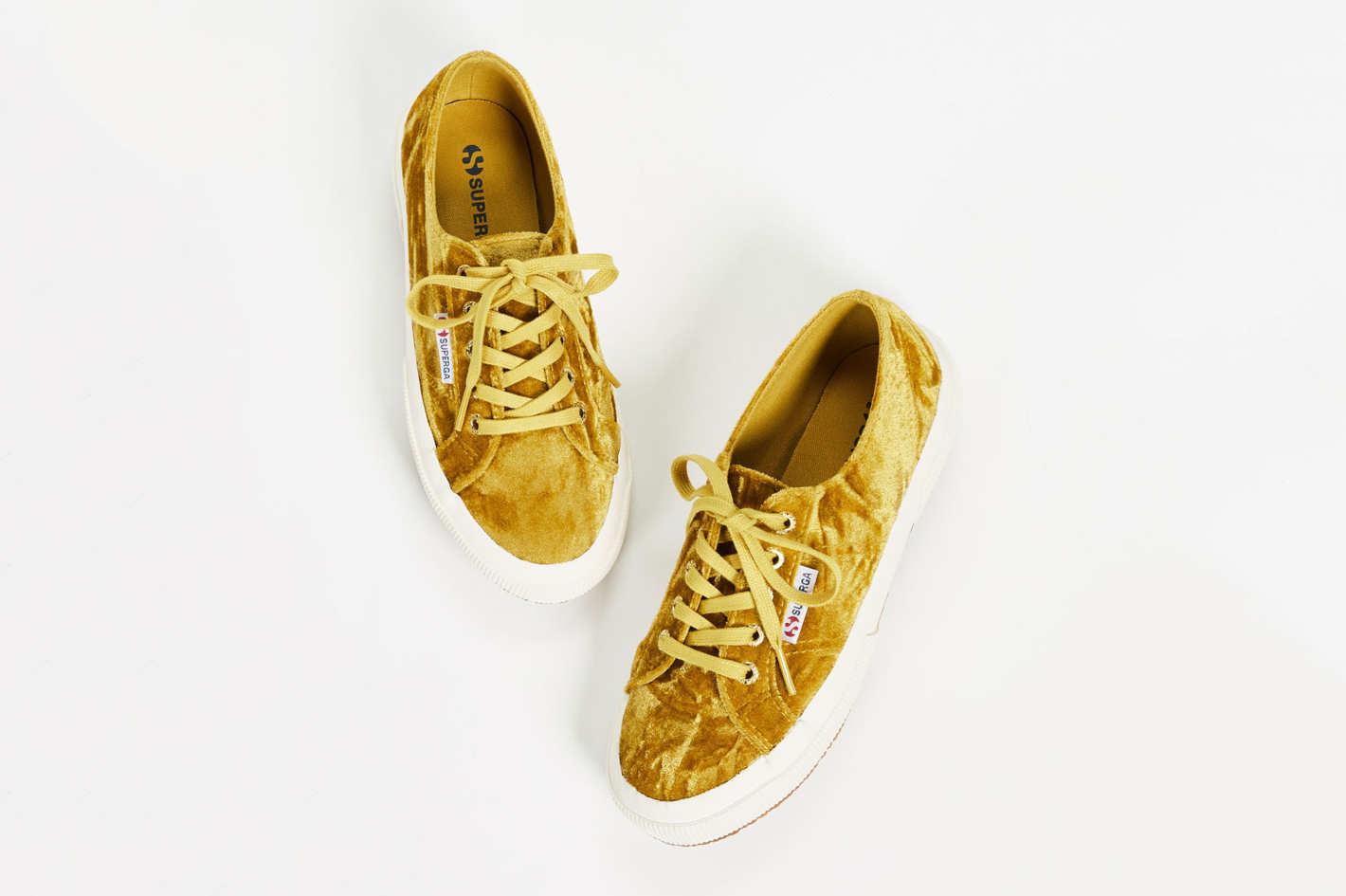 Superga 2750 Crushed Velvet Laceup Sneakers