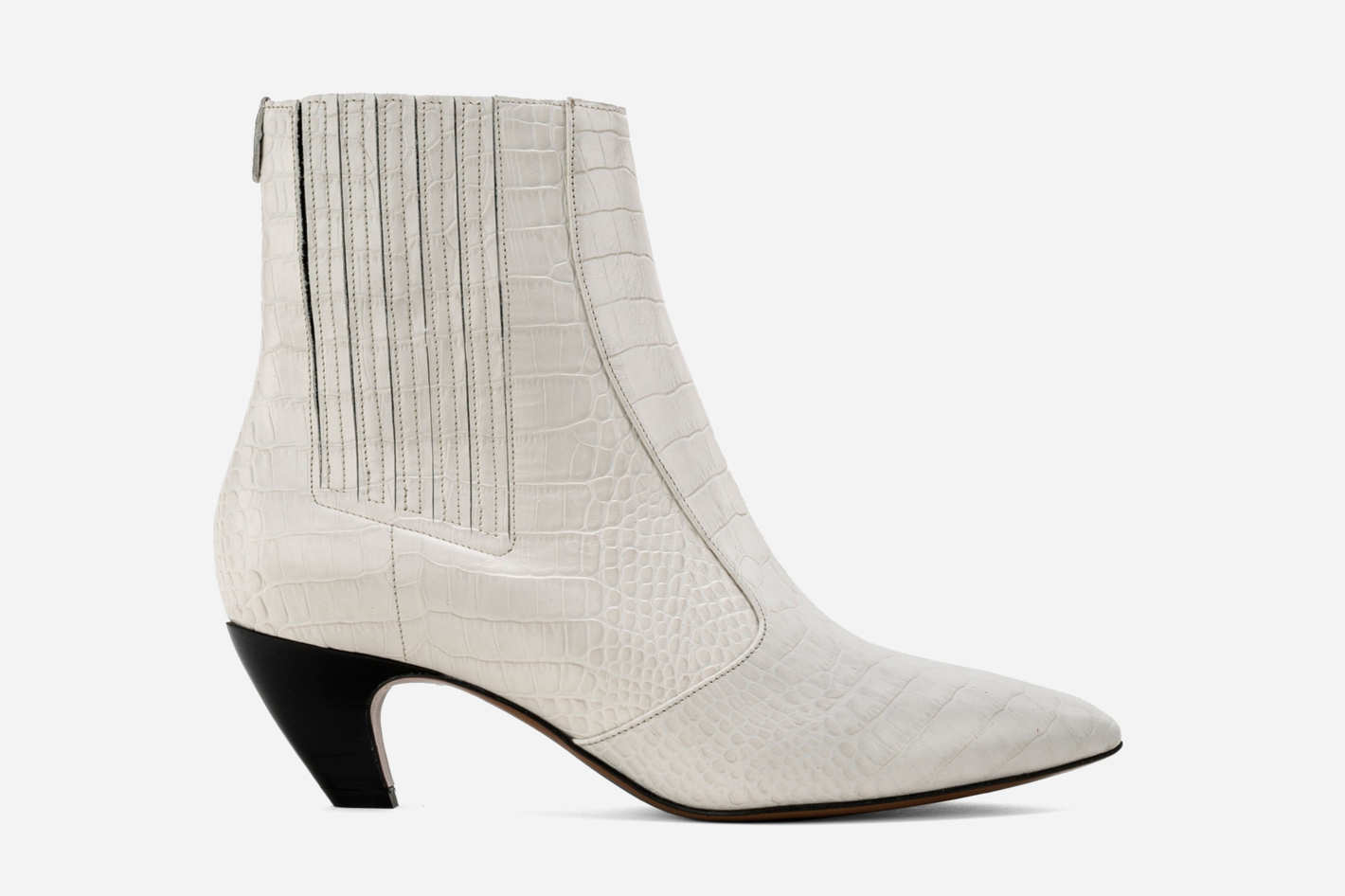 Kati boots in ivory crocco