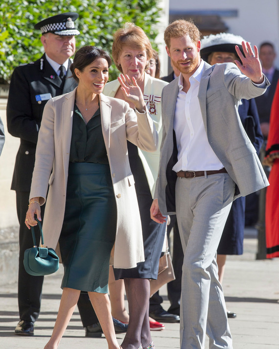 Meghan Markle and Prince Harry in Sussex.