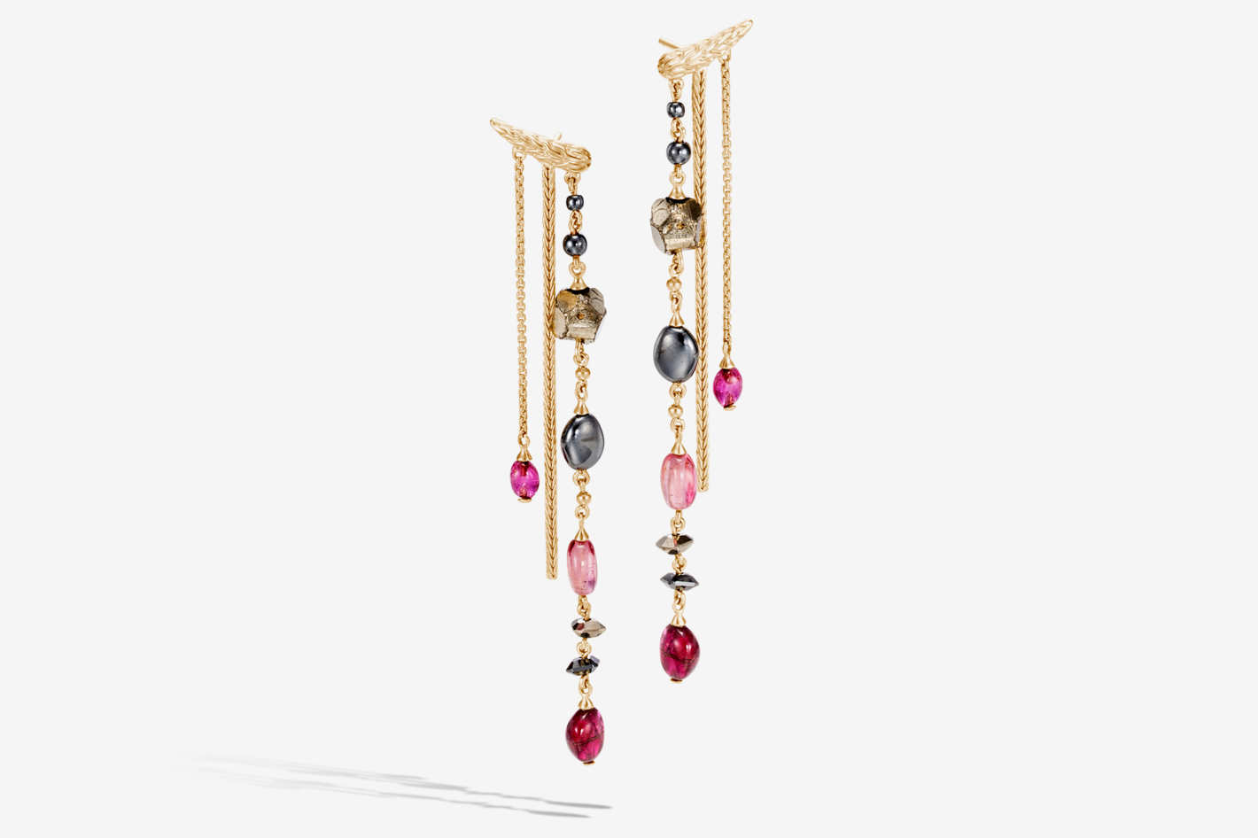 Classic Chain Drop Earring With Gemstone
