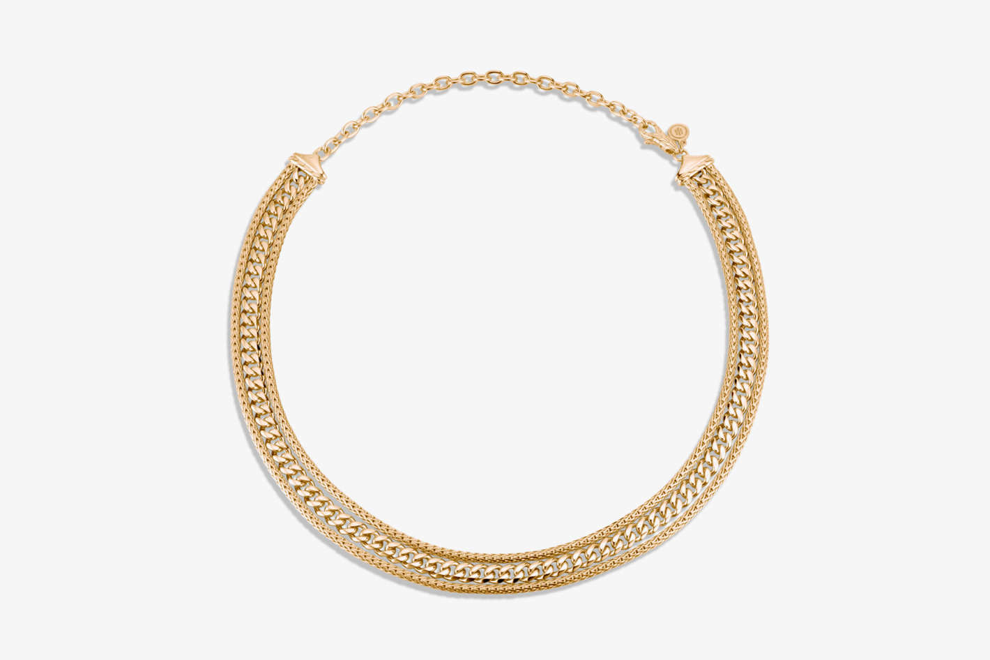 Classic Chain Triple Row Necklace