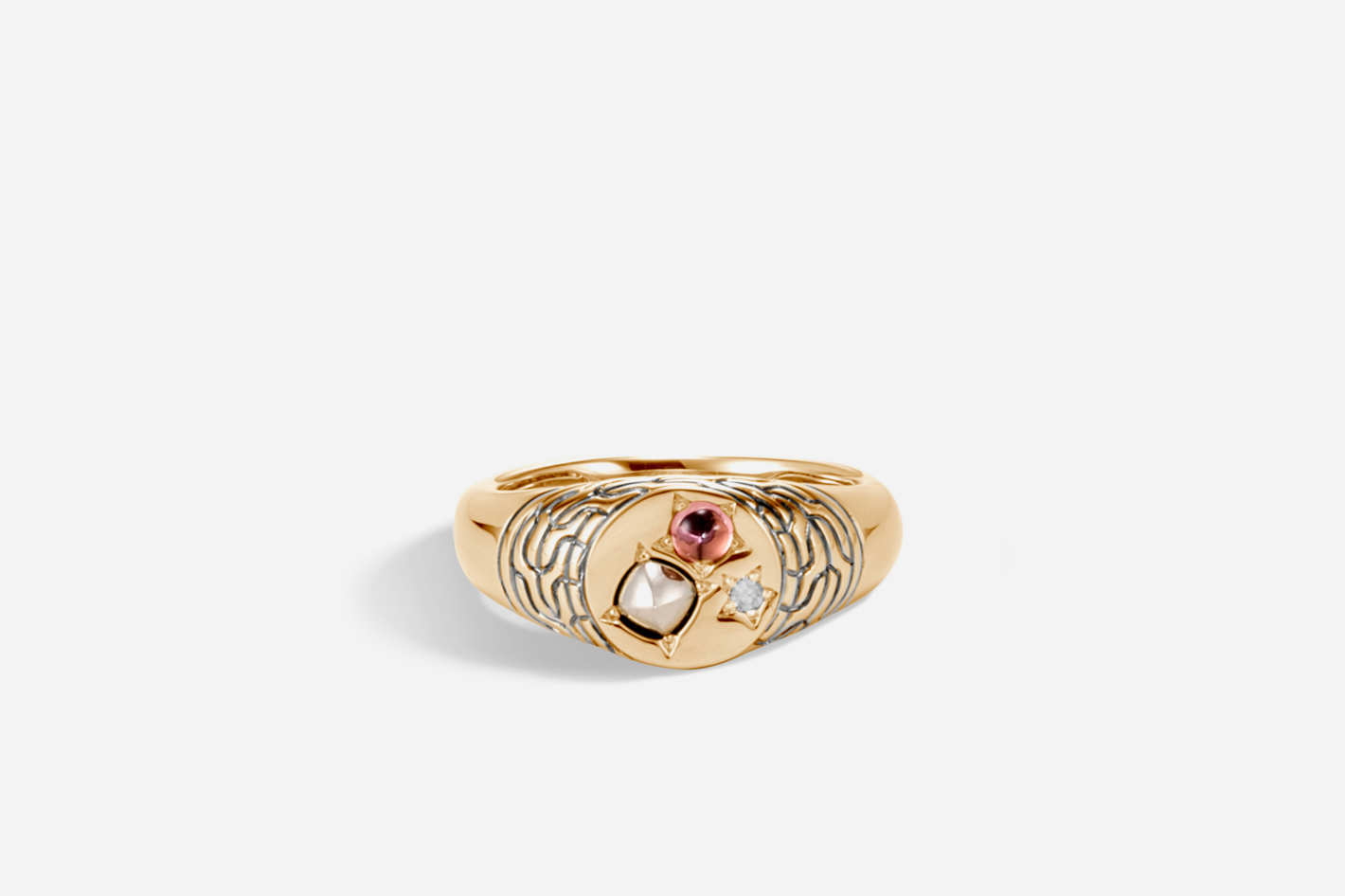 Classic Chain Pinky Signet Ring