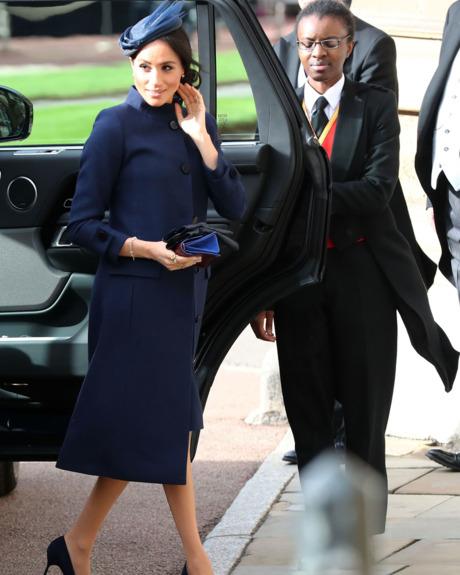 Meghan Markle at Princess Eugenie wedding.