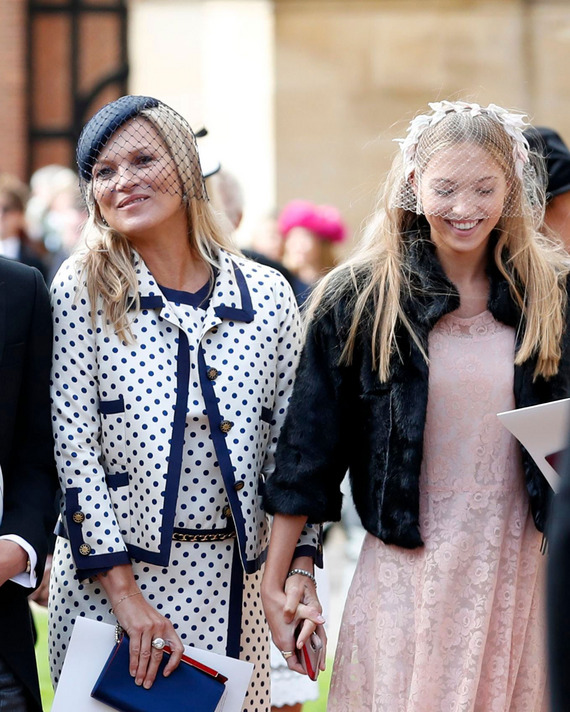 Kate Moss and her daughter, Lila.