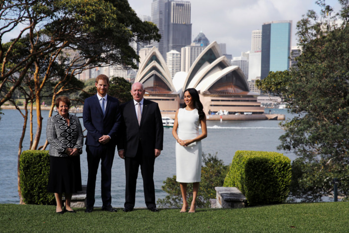 Prince Harry and Meghan Markle in Sydney.