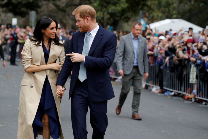 Meghan Markle and Prince Harry in Melbourne.