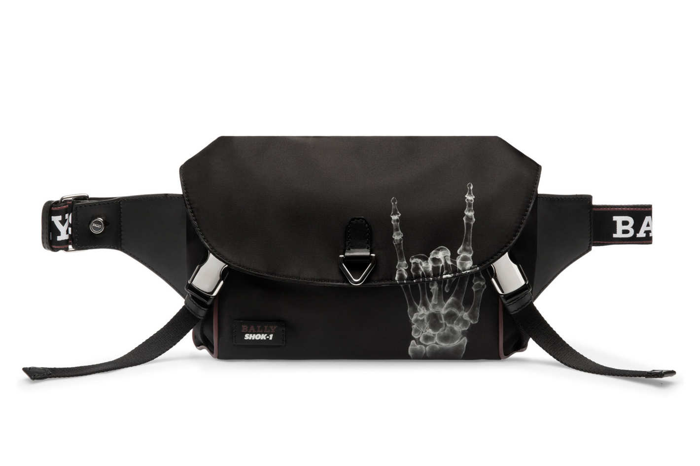 CAGE X FUNK Unisex Nylon Sling Bag in Black